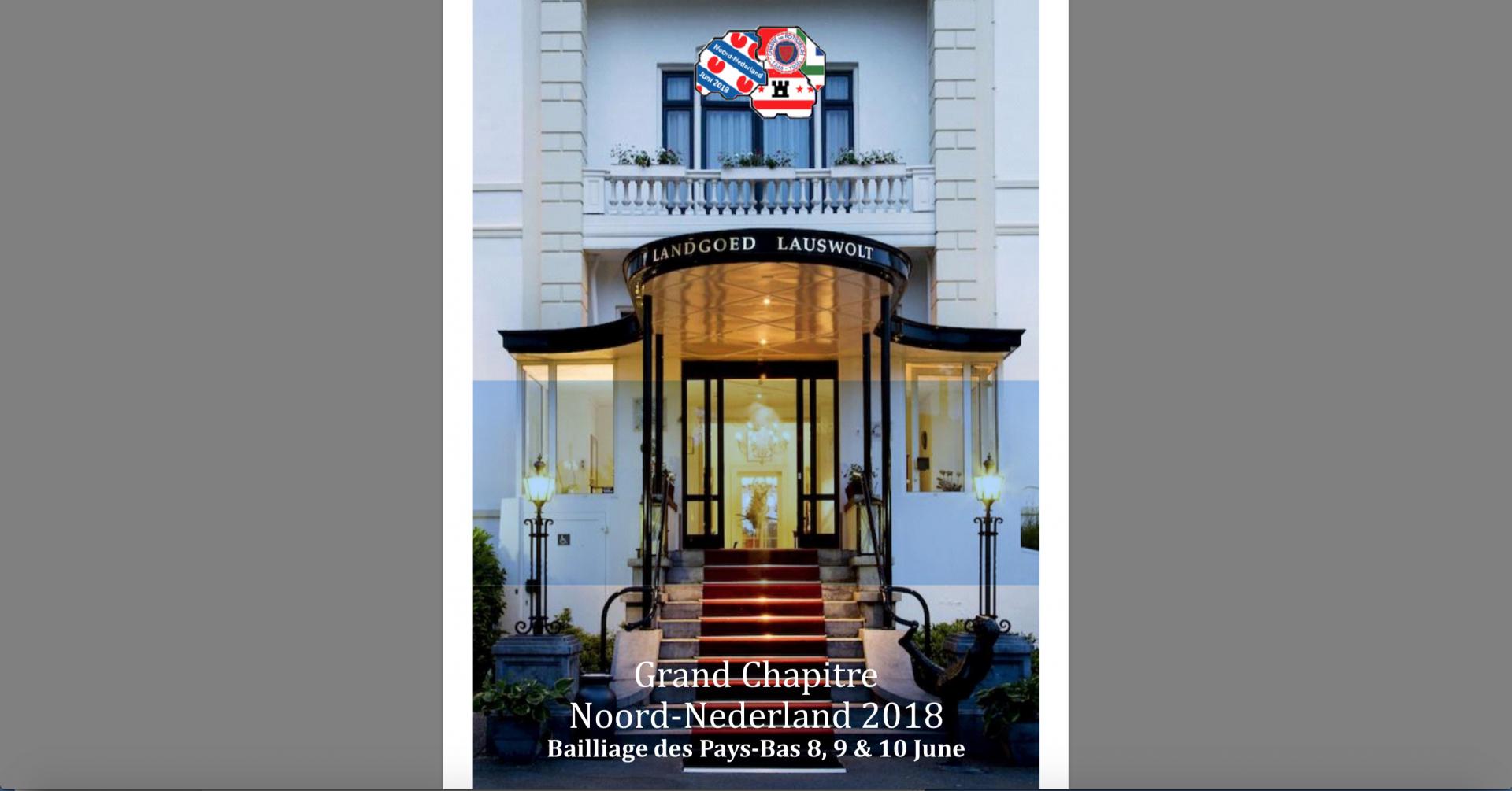Grand Chapitre Noord-Nederland 2018